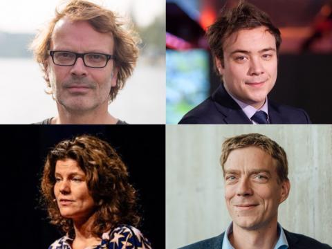Sprekers Hans Schnitzler, Danny Mekić, Ingrid Zeegers en Derk Loorbach