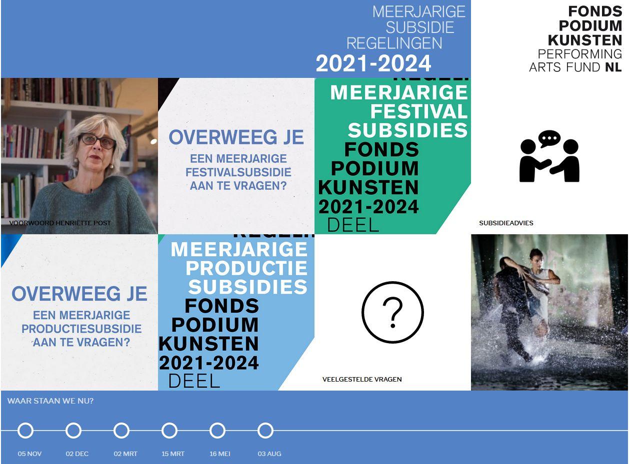 Webportal meerjarige subsidieregelingen Fonds Podiumkunsten